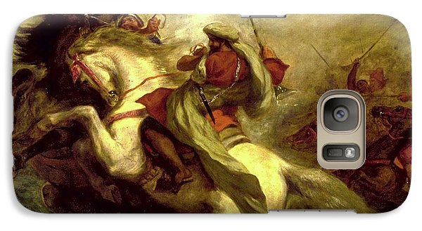 Galaxy Case featuring the painting Collision Of Moorish Horsemen by Eugene Delacroix