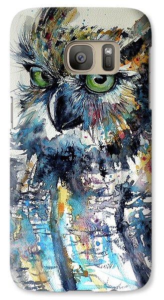 Galaxy Case featuring the painting Cute Owl by Kovacs Anna Brigitta