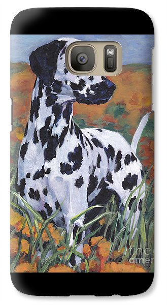 Galaxy Case featuring the painting Dalmatian by Lee Ann Shepard