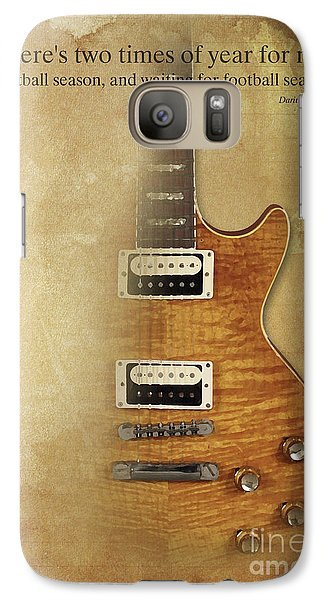 Darius Rucker Inspirational Quote, Electric Guitar Poster For Music Lovers And Musicians Galaxy S7 Case
