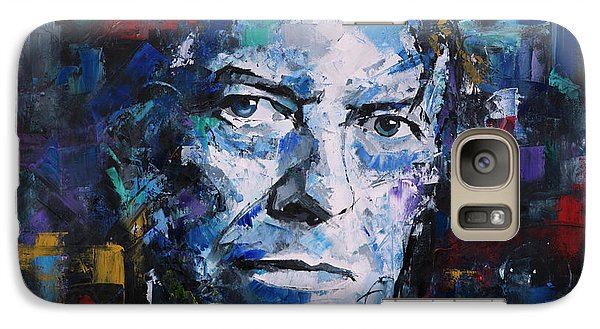 Galaxy Case featuring the painting David Bowie by Richard Day