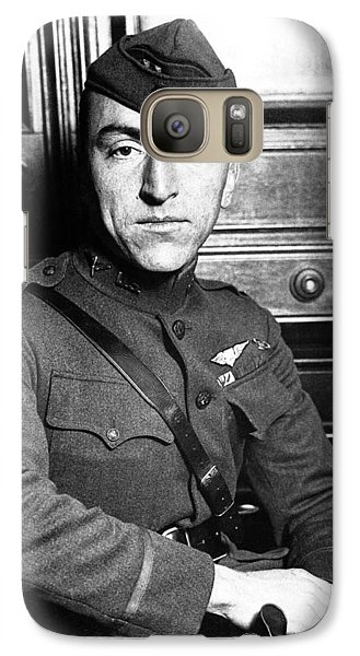 Galaxy Case featuring the photograph Eddie Rickenbacker by War Is Hell Store