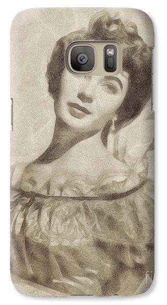 Elizabeth Taylor, Vintage Hollywood Legend By John Springfield Galaxy S7 Case by John Springfield