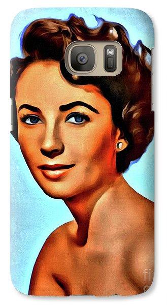 Elizabeth Taylor, Vintage Hollywood Legend Galaxy S7 Case by Mary Bassett