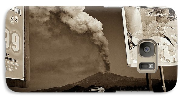 Galaxy Case featuring the photograph Etna, The Volcano by Bruno Spagnolo