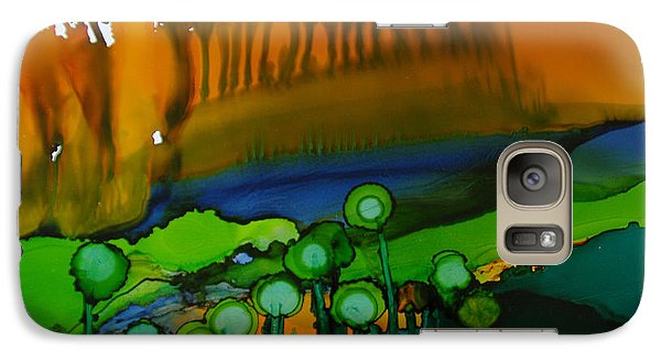Galaxy Case featuring the painting Exotic Landscape # 53. by Sima Amid Wewetzer