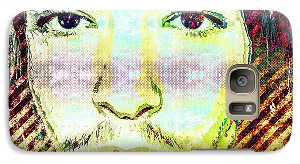 Galaxy Case featuring the mixed media Ezra Miller by Svelby Art