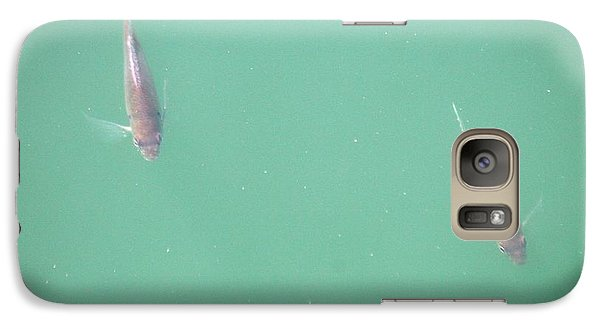 Galaxy Case featuring the photograph 2 Fish In A Pond by Paul SEQUENCE Ferguson             sequence dot net