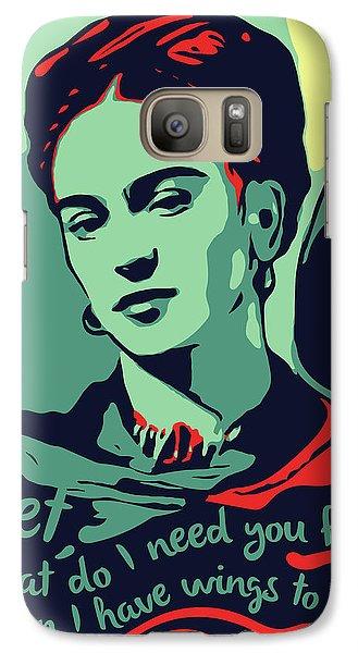 Folk Art Galaxy S7 Case - Frida Kahlo by Greatom London