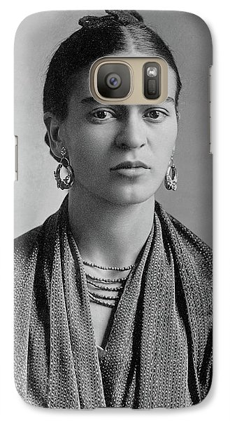 Galaxy Case featuring the painting Frida Kahlo by Pg Reproductions