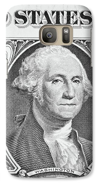 Galaxy Case featuring the photograph George Washington by Les Cunliffe