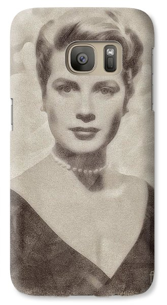 Grace Kelly, Actress And Princess Galaxy S7 Case by John Springfield