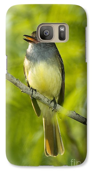 Great Crested Flycatcher Galaxy Case by Anthony Mercieca