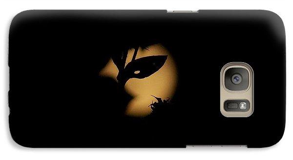 Galaxy Case featuring the photograph Harvest Moon Masquerade by Deborah Moen