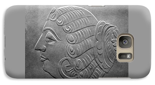 Galaxy Case featuring the relief Head by Suhas Tavkar