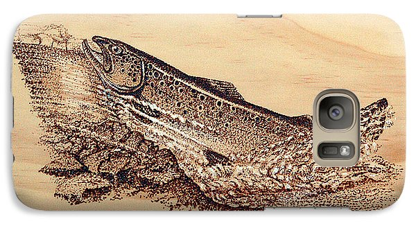 Galaxy Case featuring the pyrography Heading Home by Ron Haist
