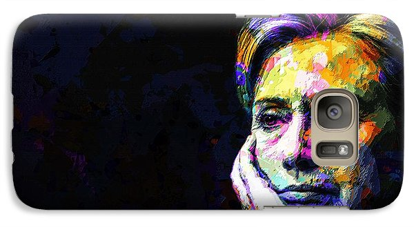 Galaxy Case featuring the mixed media Hillary Clinton by Svelby Art