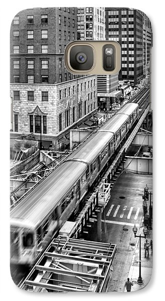 Historic Chicago El Train Black And White Galaxy S7 Case by Christopher Arndt