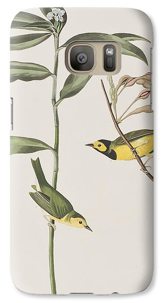 Warbler Galaxy S7 Case - Hooded Warbler  by John James Audubon