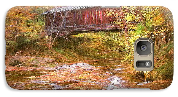 Galaxy Case featuring the digital art Hutchins Bridge by John Selmer Sr
