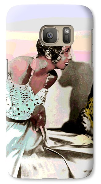 Galaxy Case featuring the mixed media Josephine Baker by Charles Shoup