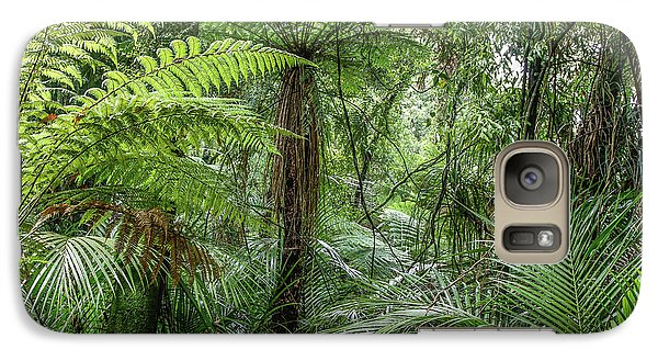 Galaxy Case featuring the photograph Jungle Ferns by Les Cunliffe