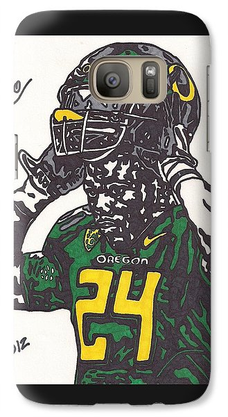 Galaxy Case featuring the drawing Kenjon Barner 1 by Jeremiah Colley