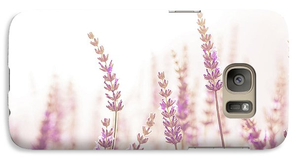Galaxy Case featuring the photograph Lavender Flower In The Garden,park,backyard,meadow Blossom In Th by Jingjits Photography