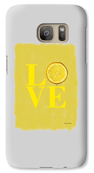 Lemon Galaxy S7 Case - Lemon by Mark Rogan