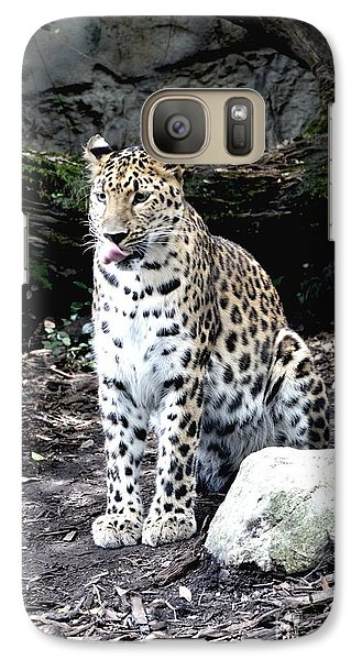Galaxy Case featuring the photograph Leopard by Janice Spivey