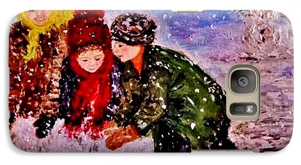 Galaxy Case featuring the painting Let It Snow..let It Snow..  by Cristina Mihailescu