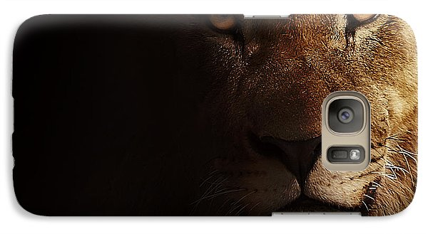 Galaxy Case featuring the photograph Lion by Christine Sponchia