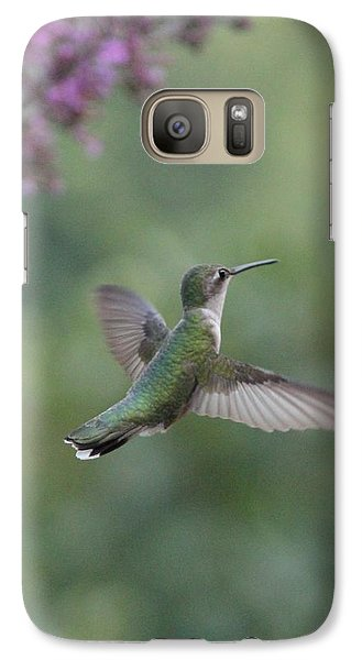 Galaxy Case featuring the photograph Little Hummer  by Laurinda Bowling