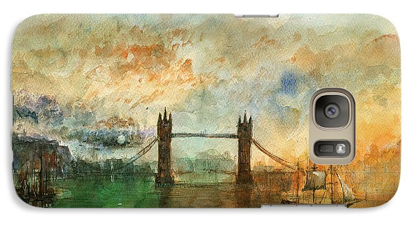 London Watercolor Painting Galaxy S7 Case by Juan  Bosco