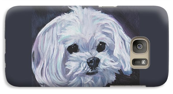 Galaxy Case featuring the painting Maltese by Lee Ann Shepard