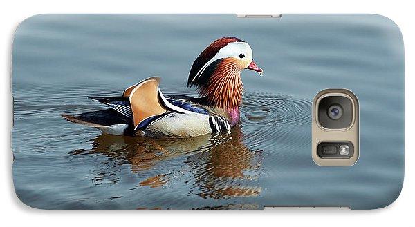 Galaxy Case featuring the photograph Mandarin Duck by Michal Boubin