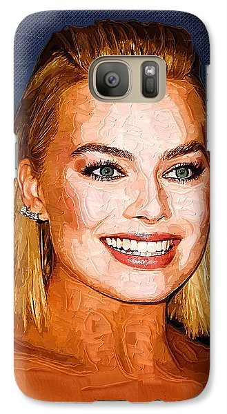 Orlando Bloom Galaxy S7 Case - Margot Robbie Art by Elizabeth Simon
