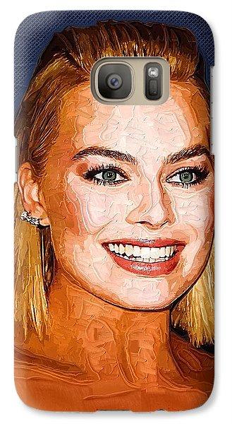 Margot Robbie Art Galaxy S7 Case by Best Actors