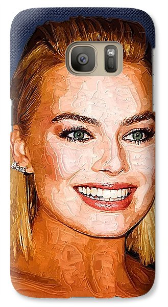 Margot Robbie Art Galaxy S7 Case by Best Actors