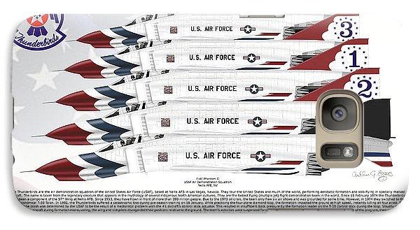 Galaxy Case featuring the digital art Mcdonnell Douglas F-4e Phantom II Thunderbirds by Arthur Eggers