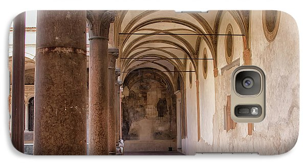 Galaxy Case featuring the photograph Medieval Hallway Of Italian Cloister by Patricia Hofmeester