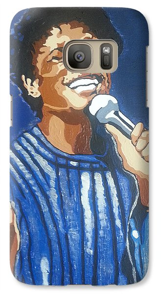 Galaxy Case featuring the painting Michael Jackson by Rachel Natalie Rawlins