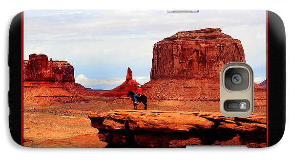 Galaxy Case featuring the photograph Monument Valley II by Tom Prendergast