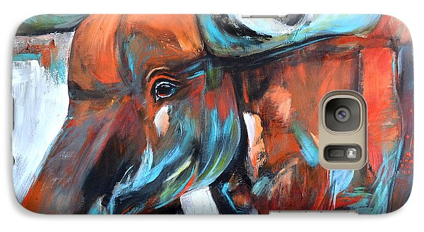 Galaxy Case featuring the painting Moose by Cher Devereaux