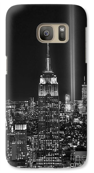 New York City Galaxy S7 Case - New York City Tribute In Lights Empire State Building Manhattan At Night Nyc by Jon Holiday