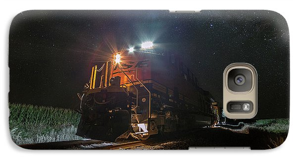 Galaxy Case featuring the photograph Night Train  by Aaron J Groen