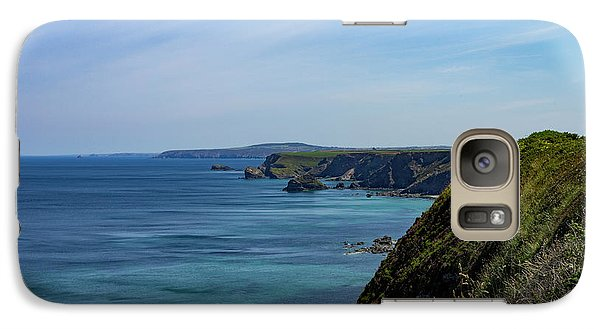 Galaxy Case featuring the photograph North Coast Cornwall by Brian Roscorla