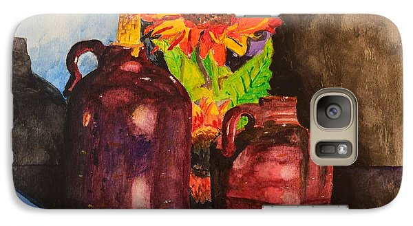 Galaxy Case featuring the painting 2 Old Jugs 1.. by Melvin Turner