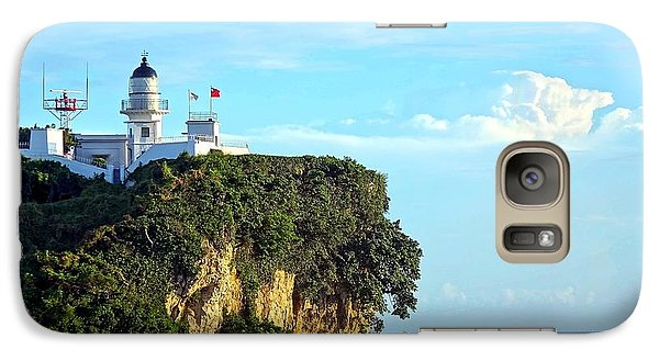 Galaxy Case featuring the photograph Old Lighthouse Overlooking Kaohsiung Harbor by Yali Shi