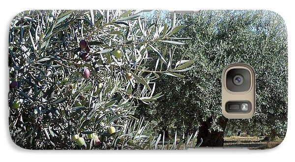 Galaxy Case featuring the photograph Olive Trees by Judy Kirouac
